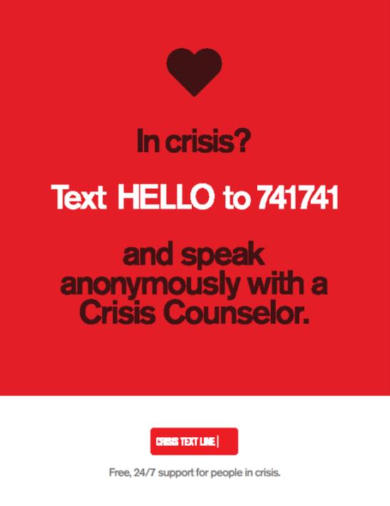 Crisis flyer