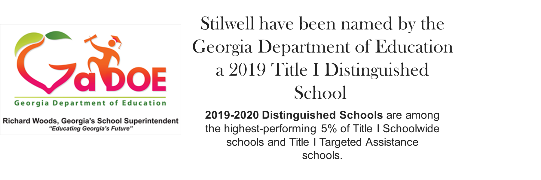 Title I Distinguished School